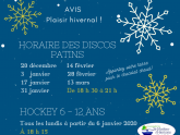 Horaire Patinoire 2019 2020